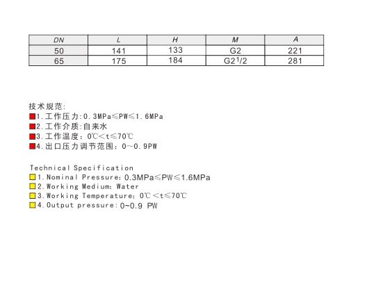Y13/43X-10/16/25Z/Q/T/C/P/R型铸钢/球墨铸铁/黄铜/铸钢/不锈钢比例式内螺纹/法兰减压阀